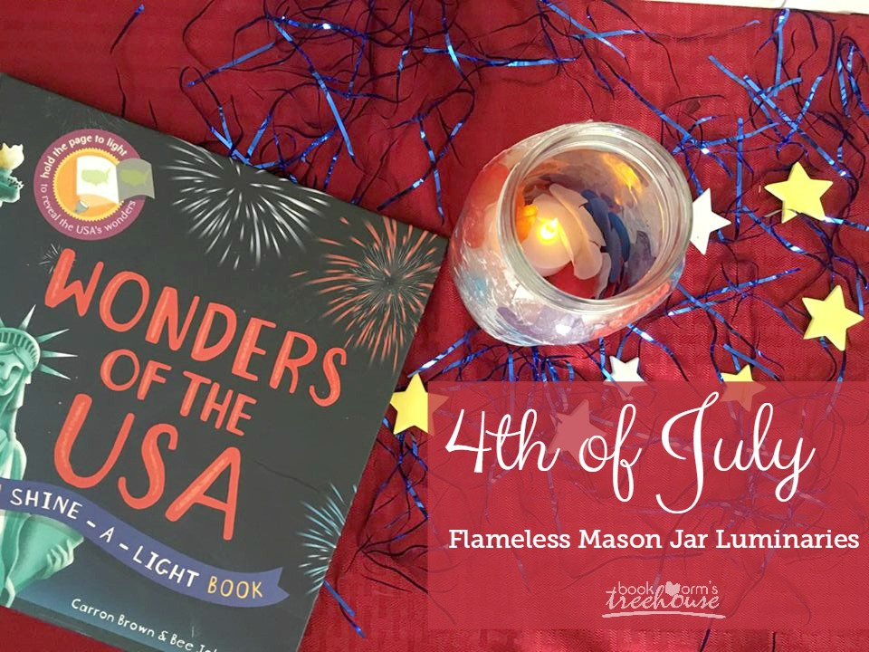 Flameless 4th of July Mason Jar Luminaries