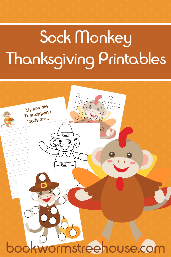 Sock Monkey Thanksgiving Printables