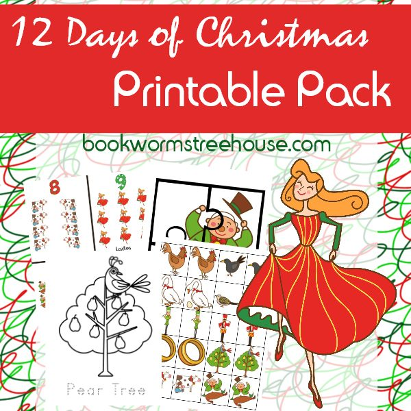 graphic relating to 12 Days of Christmas Printable titled 12 Times of Xmas Match Pack