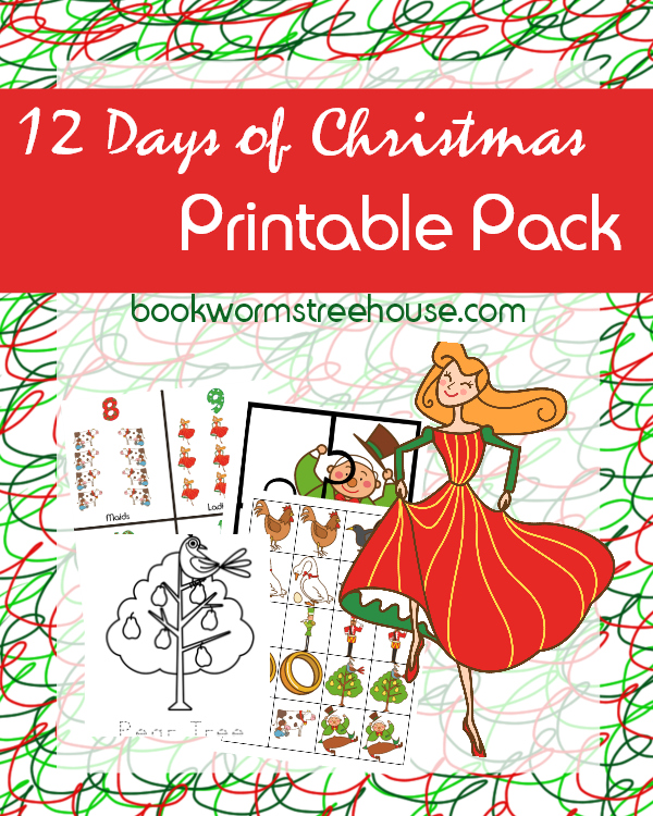 picture relating to 12 Days of Christmas Printable named 12 Times of Xmas Printable Pursuits and Arrival Publications