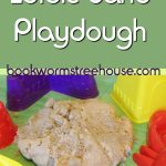 Edible Sand Playdough for Beach Themed Fun!