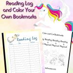 Unicorn Reading Log and Bookmarks